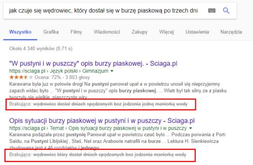 Research - wyniki wyszukiwania