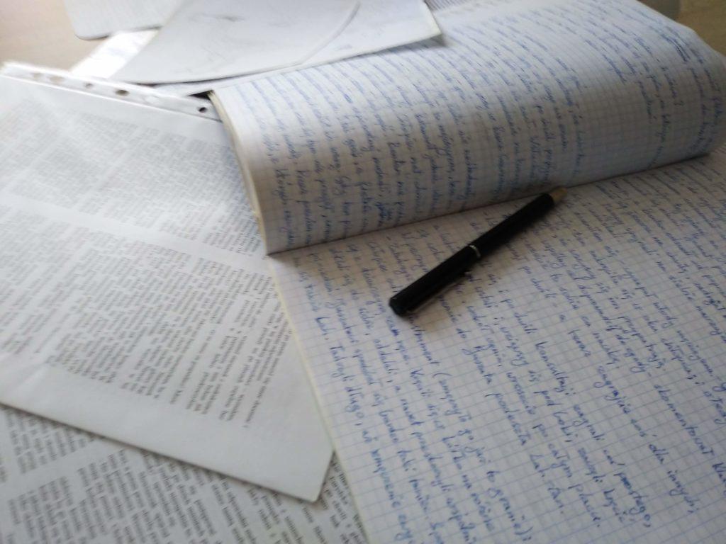 zostać pisarzem - kartki